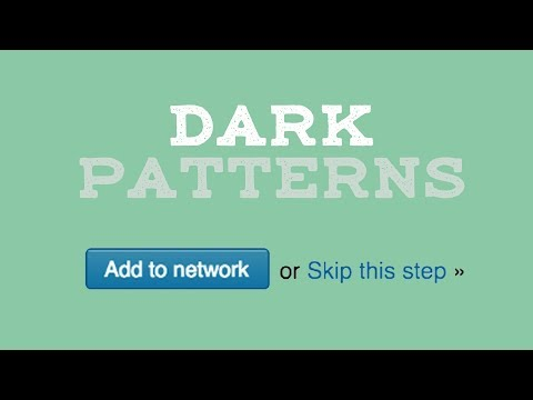 """Timely video about """"dark patterns,"""" the tricks websites use to manipulate you"""