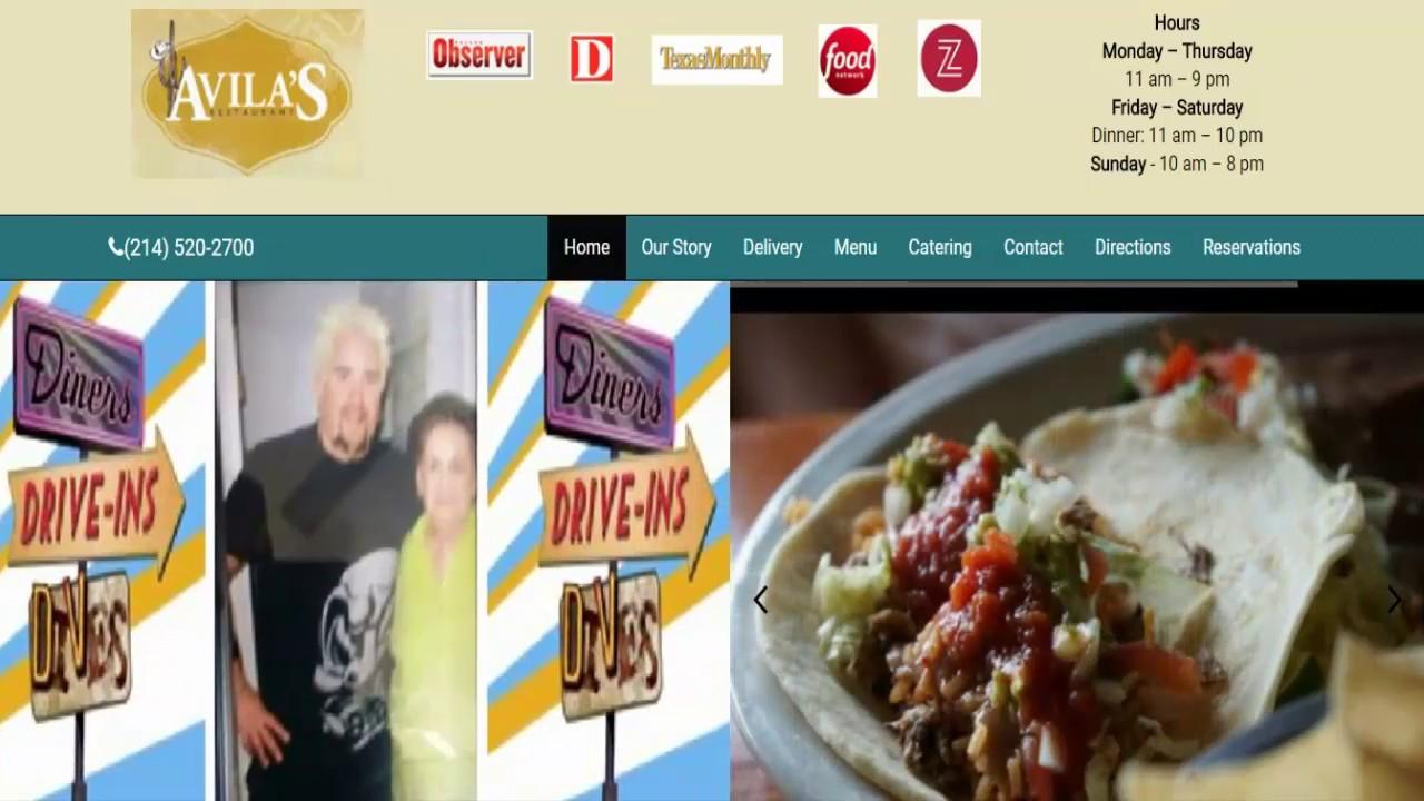 Avilas Restaurant Located In 4714 Maple Avenue Dallas Tx 75219
