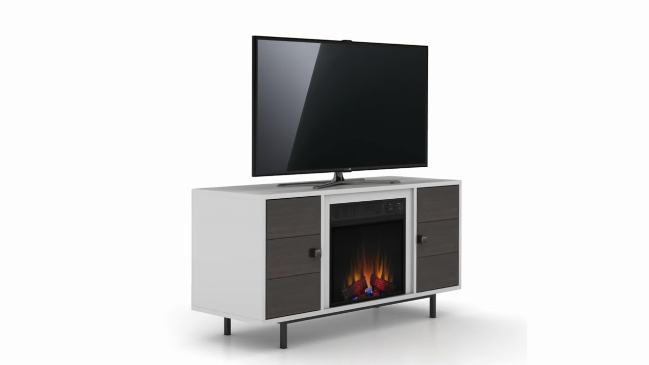 New classic flame electric fireplace inserts make an existing chimney - Classicflame High Gloss White Ridgeville Tv Stand With Electric Fireplace
