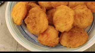 Pumpkin fritters: you won't be able to eat only one!
