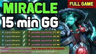 OMG! Miracle destroyed Kunkka mid with his Storm Spirit and made him rage quit
