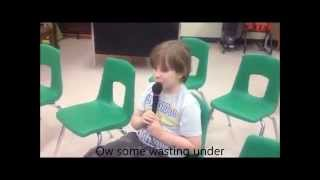 Non Verbal Autistic Child sings - A Whole New World With Lyrics