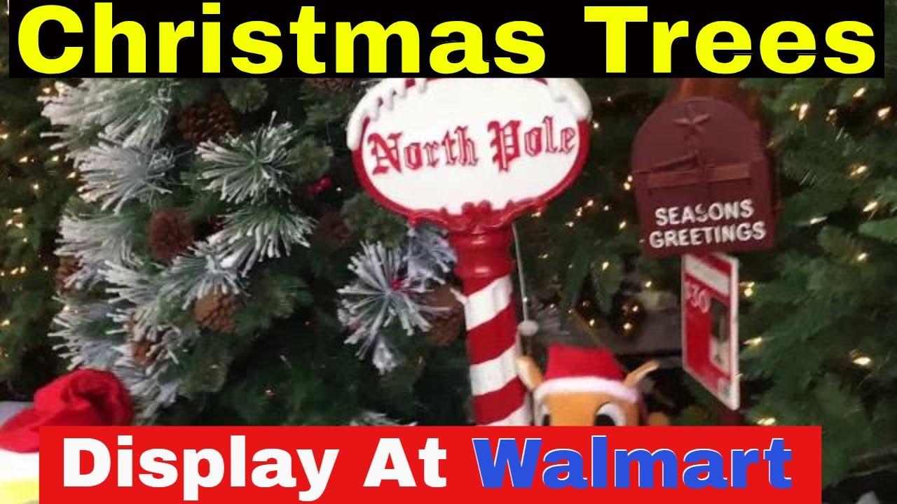Christmas Tree Display At Walmart 2017 4k