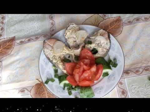 Очень сочная  горбуша в сметанном соусе  Новогодний рецепт  рыба жареная