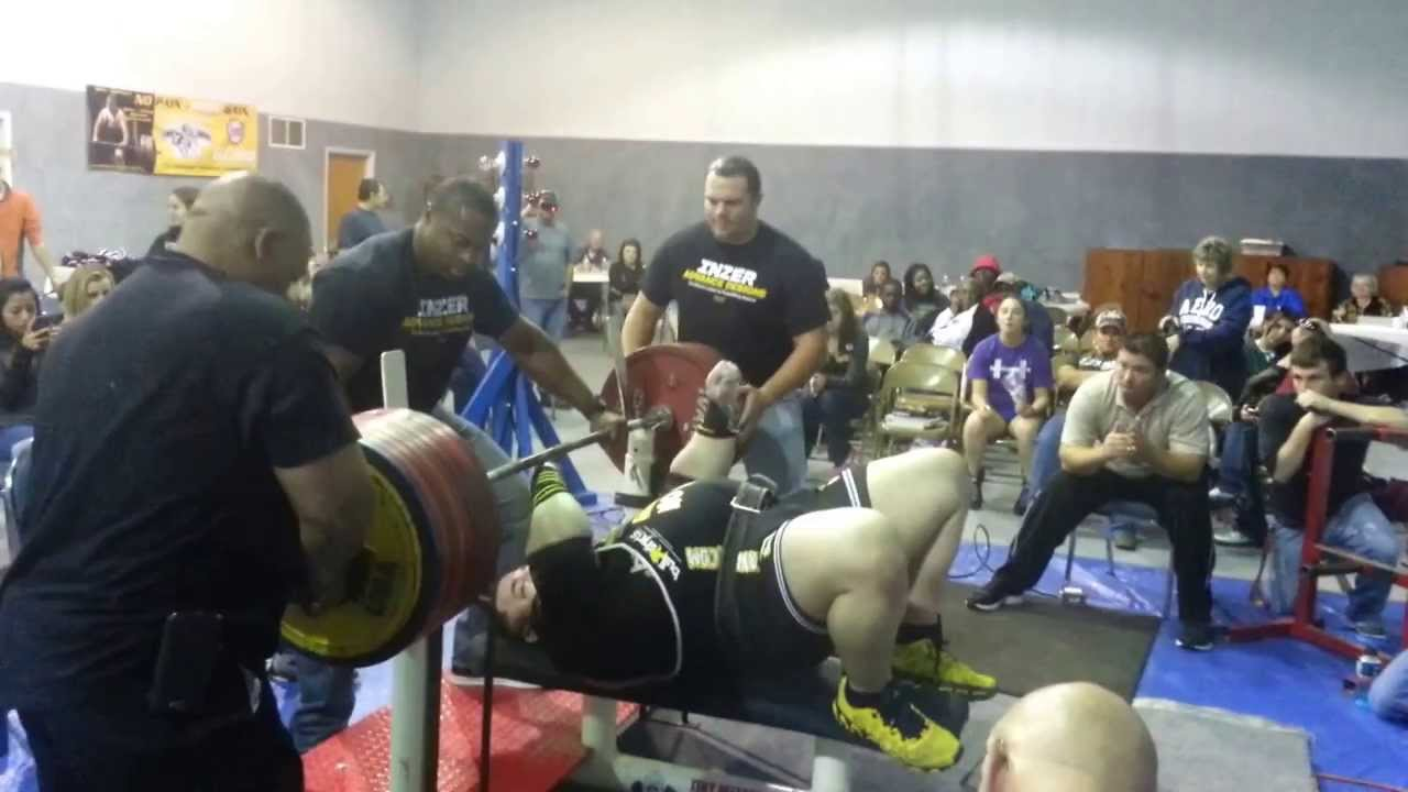 Tiny Meeker 1102lb/ 500kg Multiply Bench Attempt - YouTube