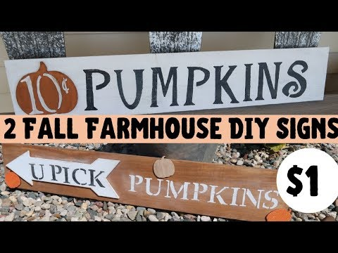 DIY FALL OUTDOOR SIGNS | ONLY $1 | DOLLAR TREE DIYS | SCRAPWOOD DIYS | SIMPLE AND EASY