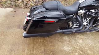 "2017 street glide vance and hines duals with high output 4 1/2"" slip ons"
