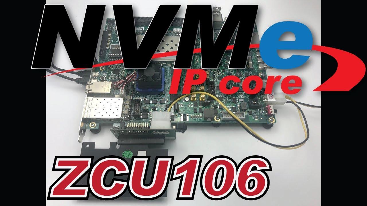 FPGA + NVMe IPcore Demo on ZCU106 (Zynq UltraScale+)