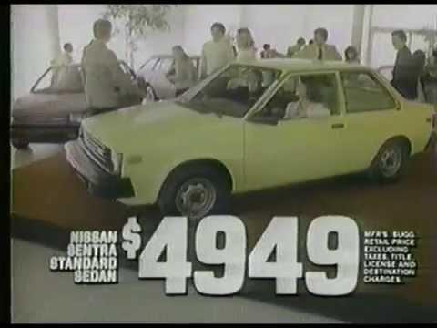 1982 New Datsun Sentra Commercial  YouTube