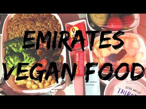 VEGAN AIR TRAVEL PLANE FOOD - EMIRATES DUBAI AND BALI