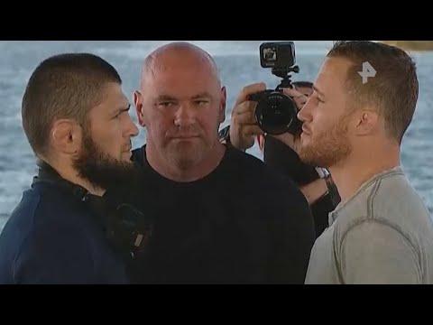 Фаворит среди лучших: Хабиб встретился с Гэтжи перед боем за титул UFC