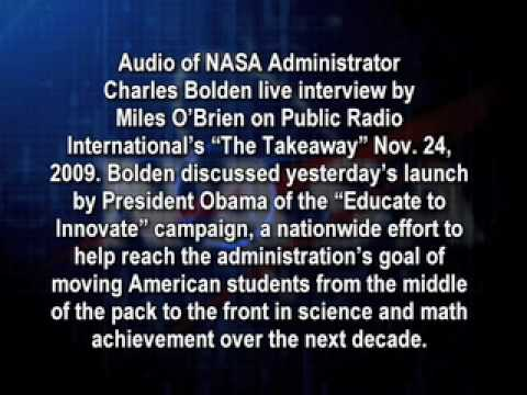 Administrator Charles Bolden interview  on Public Radio Internationals The Takeaway