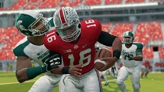 Ohio State vs Michigan State Simulation (NCAA Football 14 - Xbox 360)