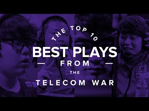 The Top 10 BEST Plays from the Telecom War (LoL)
