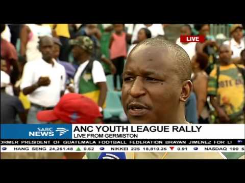 Pres. Zuma is expected to address ANC Youth League rally in Germiston