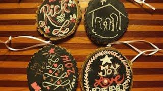 Rustic Chalkboard Style Christmas Ornaments