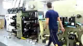 macchina flessografica tipografica offset da stampa etichette flessibiles sleevers