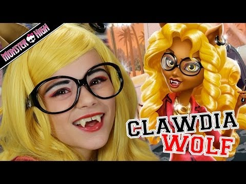 Monster High Clawdia Wolf Doll Makeup Tutorial for Halloween or Cosplay  |  Kittiesmama