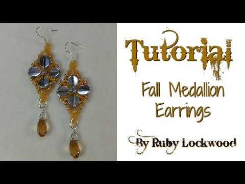 (Tutorial) Fall Medallion Earrings (Component) Video 198