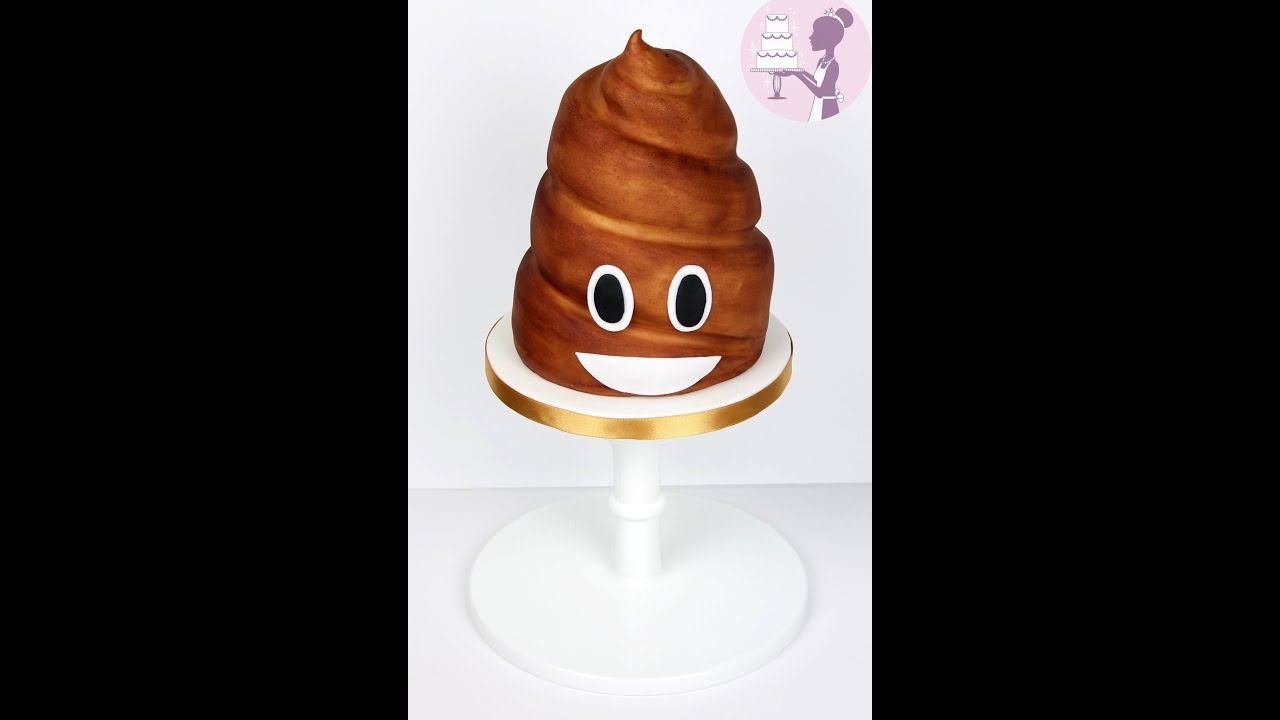 HOW TO MAKE A POOP EMOJI CAKE
