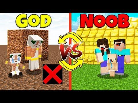Minecraft Battle: NOOB vs GOD: SWAPPED FAMILY CHALLENGE