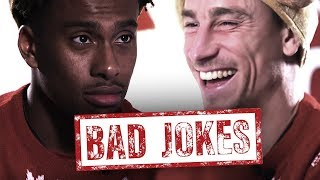 FIRST TO LAUGH LOSES! | Bad Jokes Christmas Cracker Special