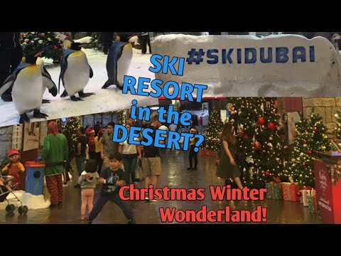 VLOGMAS: Christmas Wonderland at SKI DUBAI | a SKI RESORT in the DESERT