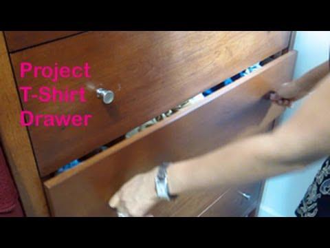 Home organization organize your t shirt drawer youtube for T shirt drawer organization