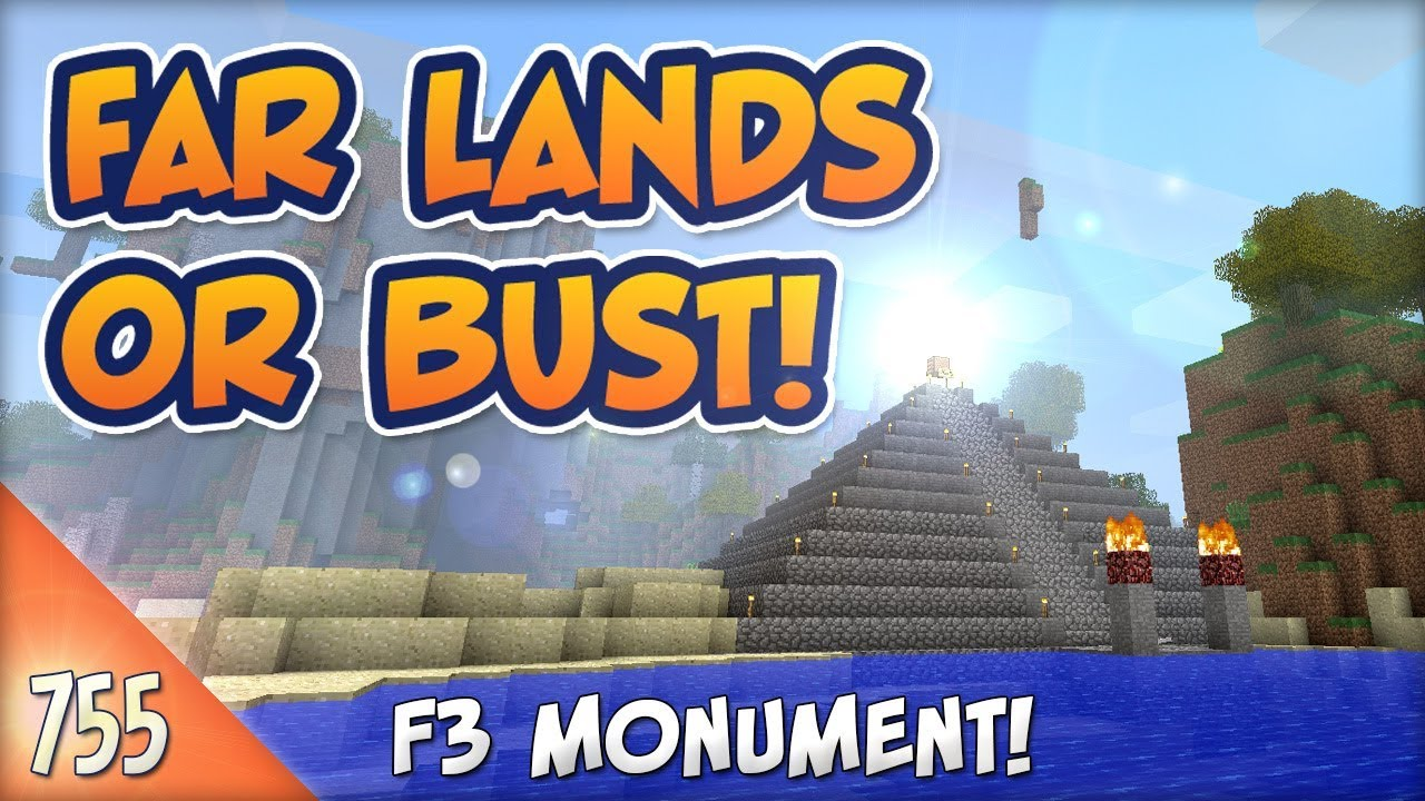 Minecraft Far Lands or Bust - #755 - Musical Pyramid F3 Monument
