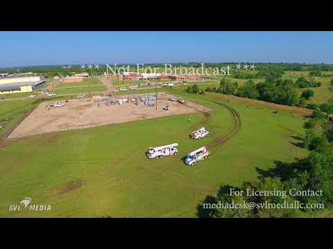 Eureka, KS - Drone Video of Tornado Damage and Clean up  - June 27th, 2018