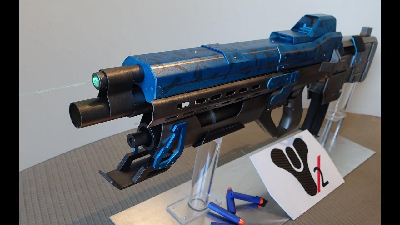 Destiny NERF MOD: Legendary Pulse rifle Hopscotch Pilgrim