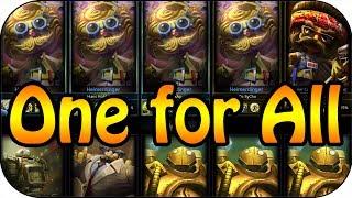 League of Legends - One for All - 5 Heimerdinger vs 5 Blitzcrank   Highlights