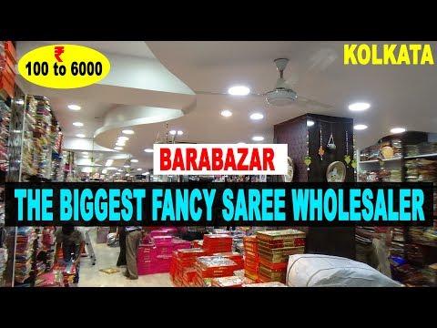 The Biggest Fancy Saree Wholesaler In Kolkata Barabazar