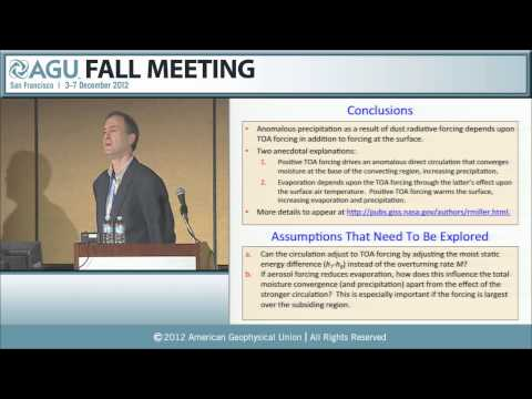 A21O.* Transport and Impacts of African Dust on Weather and Climate I - 2012 AGU Fall Meeting