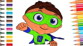 Super Why Fun Coloring Book Pages for Kids