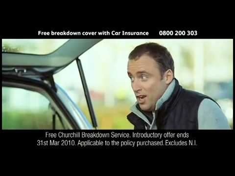 Churchill s parachute jump car insurance advert