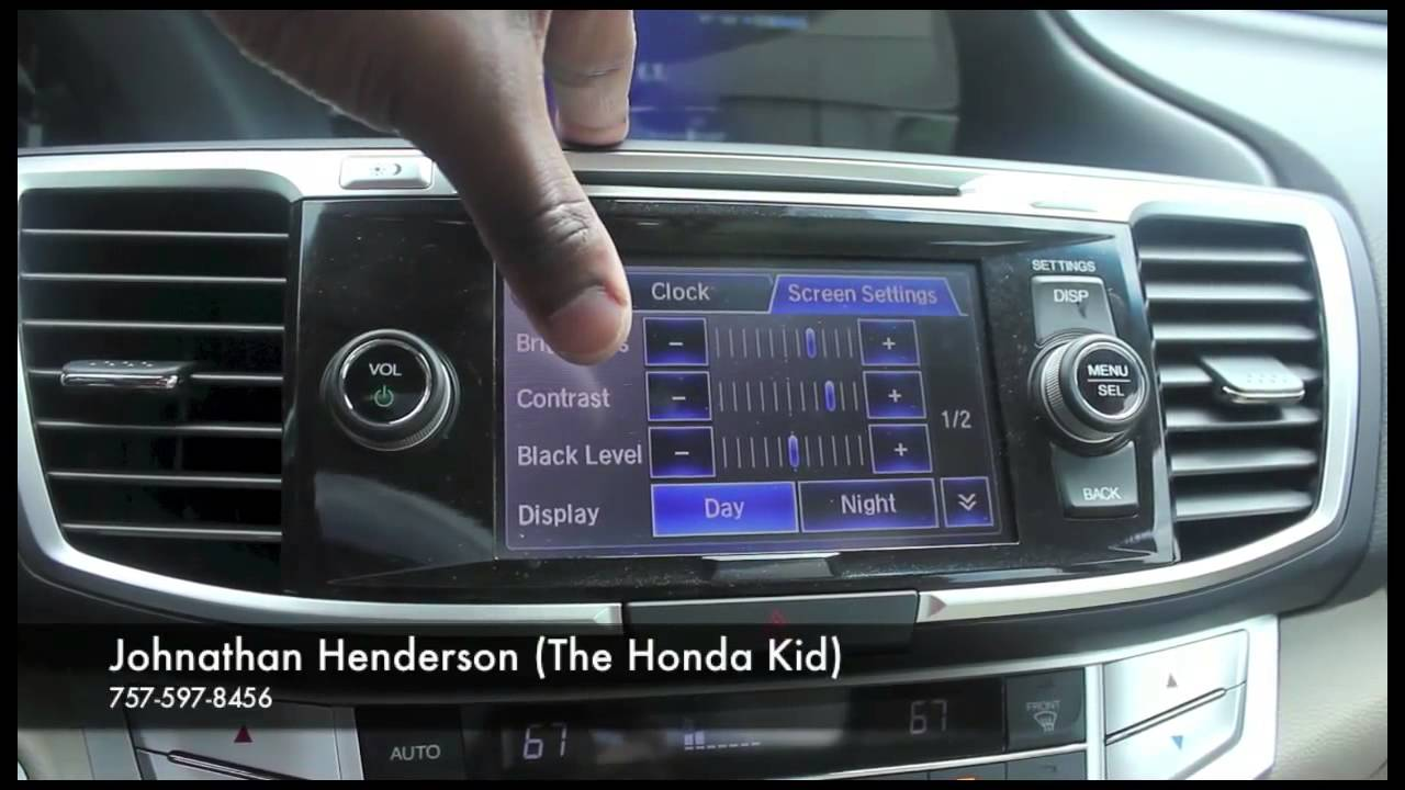 2013 Honda Accord All Touch Screen Monitor/The Honda Kid/Quick Review - YouTube