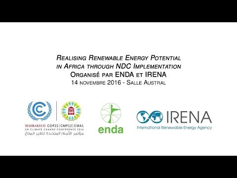 COP 22 (14/11/16) Realising renewable energy