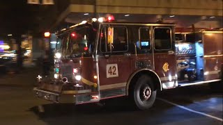 Chicago IL Fire Department Engine Co. 42 (Spare) And Truck Co. 3 Responding
