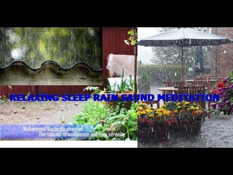 Meditasyon Uyku Rahatlatıcı Sesler Yağmur Piano su sesi Theta Dalgaları