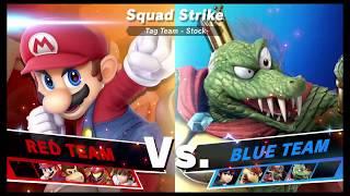 Super Smash Bros Ultimate Amiibo Fights Request #1313 Heroes vs Villains Squad Strike
