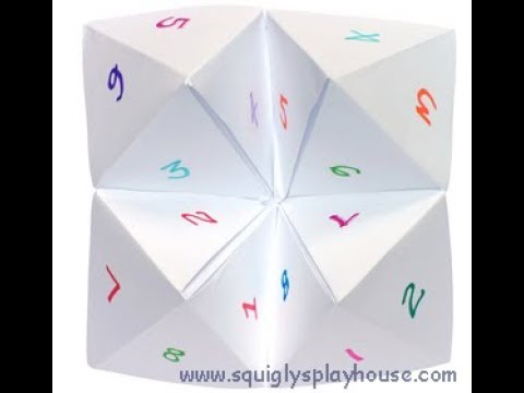 How to make a simple cootie catcher /Blog