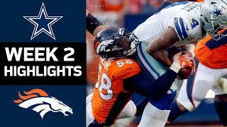 cowboys vs broncos   nfl week 2 game highlights