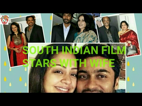 SOUTH INDIAN FILM STARS WITH WIFE.