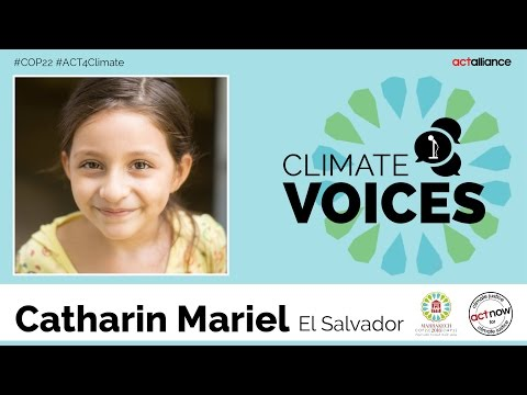 Climate voices: Catharin Mariel, El Salvador