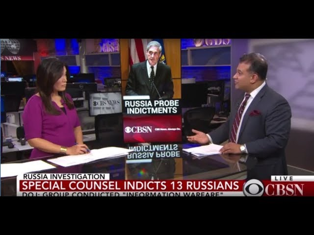 Vinoo Varghese and Elaine Quijano Talk Russian Indictment on CBS News