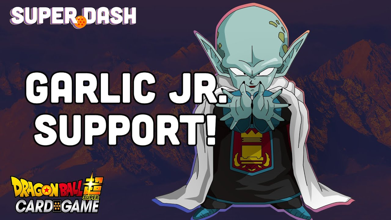 New Garlic Jr Support Vermilion Bloodline Card Reveals Dragon Ball Super Card Game Youtube Only has one transformation in which his height increases a lot, he becomes buffed up and considerably powerful. youtube