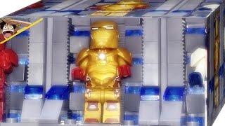 SY 짝퉁 레고 아이언맨 마크 42 슈트보관소 미니피규어 조립 리뷰 Lego knockoff iron man mark 42 & Garage suit case