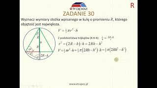 Zadanie optymalizacyjne (Kurs Matura Rozszerzona cz.2 eTrapez)