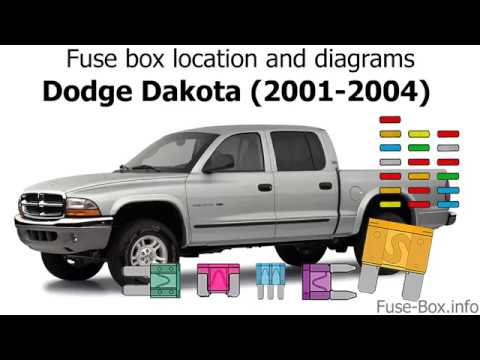 fuse box location and diagrams: dodge dakota (2001-2004) - youtube  youtube